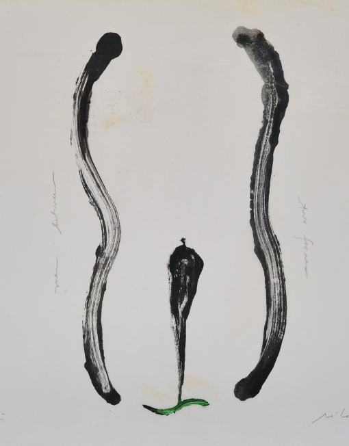 LM111 Man Between Two Forms,50x65cm,Pigment on Paper with Resin-min