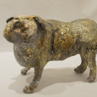 LM174 Pugnacious 27x18x13cm, concrete,Metal and Gold leaf