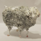 LM181 White Sheep 1 21x16x9cm, Concrete, Metal and Steel Wool